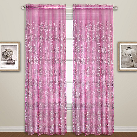 Buy Bling 63 Inch Curtain Panel In Pink From Bed Bath Amp Beyond