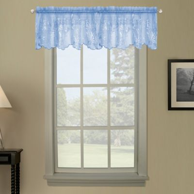 Blue Sheer Valance