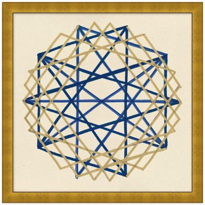 Navy and Gold Geo 4 Wall Art