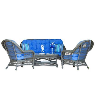 Grey Blue Conversation Set