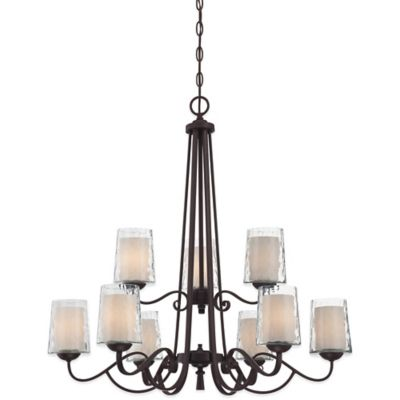 Quoizel Adonis 9-Light Ceiling Mount Chandelier in Dark Cherry