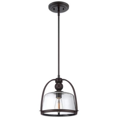 Quoizel Piccolo Ridley Ceiling-Mount Mini Pendant Light in Bronze