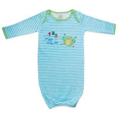Funkoos Froggy Size 3-6M Organic Cotton Gown in Blue