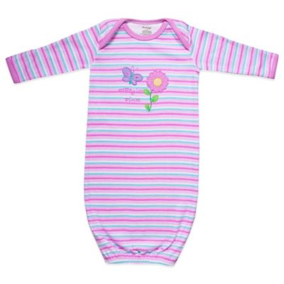 Funkoos Spring Flower Size 3-6M Organic Cotton Gown in Pink