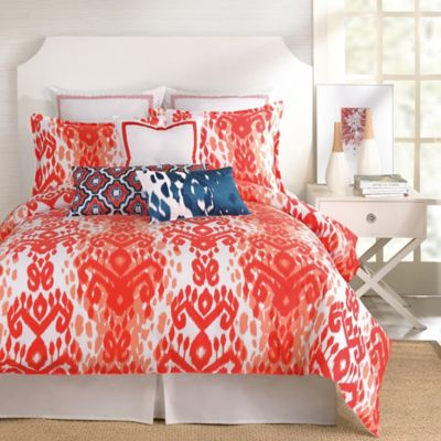 Trina Turk® Mojave Ikat Twin Comforter Set in Orange