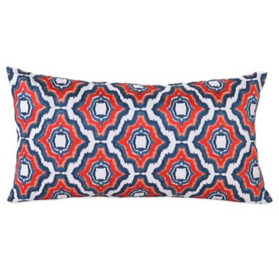 Trina Turk® Mojave Ikat Ogee Oblong Throw Pillow in Orange