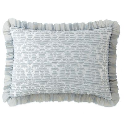 Waterford® Linens Abbey Oblong Throw Pillow in Blue
