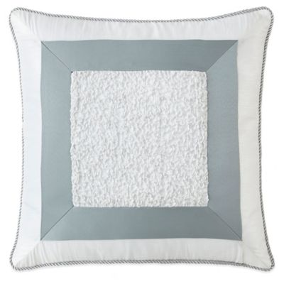 Waterford® Linens Abbey Square Throw Pillow in Blue