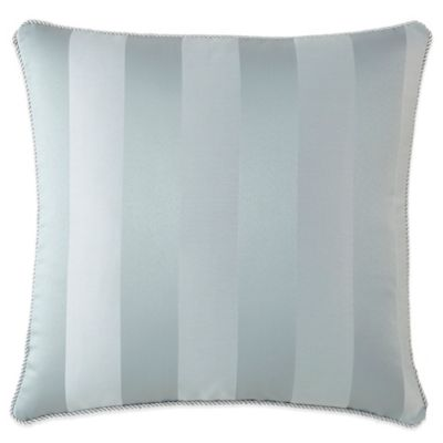 Waterford® Linens Abbey Striped Square Throw Pillow in Blue