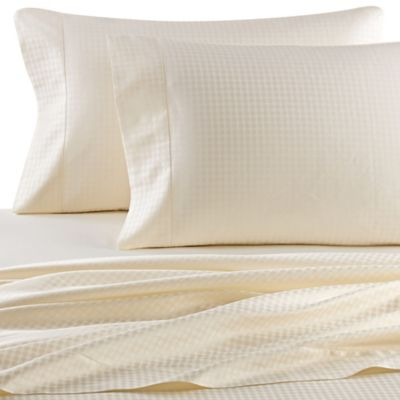 Versai Piccolo Italian-Made Oval Jaquard 4-Piece Queen Sheet Set in White