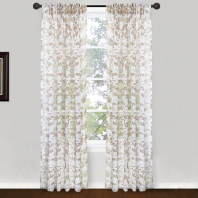 Park B. Smith Endless Floral Pinch Pleat 84-Inch Window Curtain Panel Pair in Silver