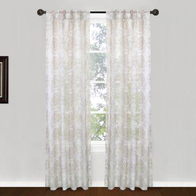 Park B. Smith Venetian Tiles Pinch Pleat 84-Inch Window Curtain Panel Pair in Linen