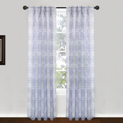 Park B. Smith Venetian Tiles Pinch Pleat 84-Inch Window Curtain Panel Pair in Plum