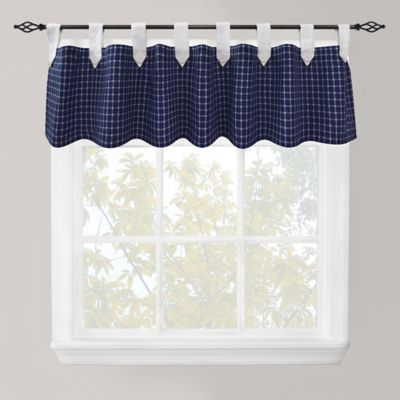 Park B. Smith Picnic 60-Inch Check Cotton Tab Top Valance in Red