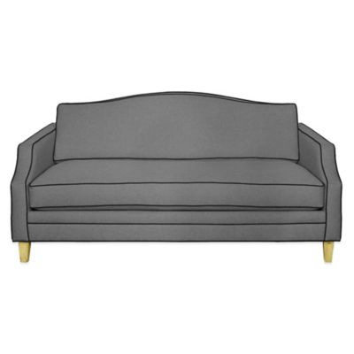 Kyle Schuneman for Apt2B Blackburn Mini Apartment Sofa in Grey with Sweet Potato Piping