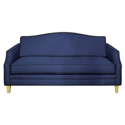 Kyle Schuneman for Apt2B Blackburn Mini Apartment Sofa in Navy with Sprite Piping