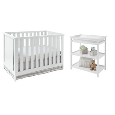 Imagio Baby by Westwood Design Casey 3-in-1 Convertible Crib and Changing Table Set in White