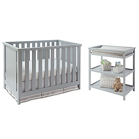 imagio baby by westwood design casey 3 in 1 convertible crib and changing table set in grey. Black Bedroom Furniture Sets. Home Design Ideas