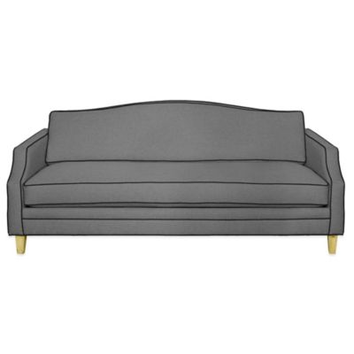Kyle Schuneman for Apt2B Blackburn Sofa in Grey with Pink Lemonade piping