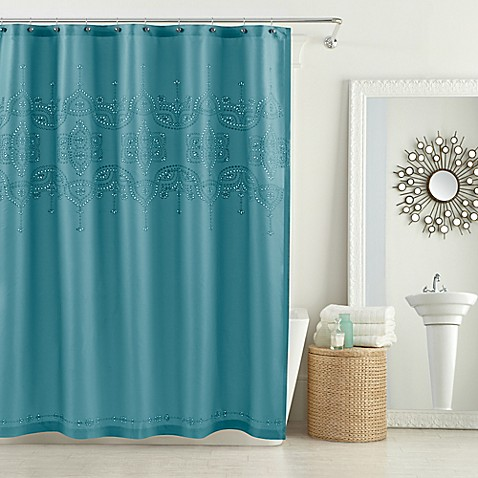 buy anthology scarlet 72 inch x 84 inch shower curtain in teal from bed bath beyond. Black Bedroom Furniture Sets. Home Design Ideas