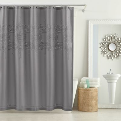 72 gray Fabric Shower Curtain