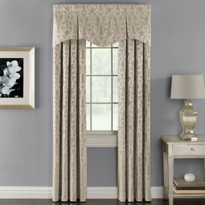 Lyra Rod Pocket 95-Inch Window Curtain Panel in Blue