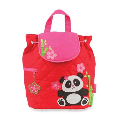 Stephen Joseph Panda Quilted Backpack in Red
