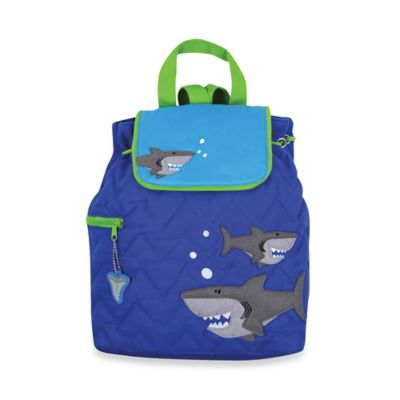 Stephen Joseph Shark Quilted Backpack in Blue