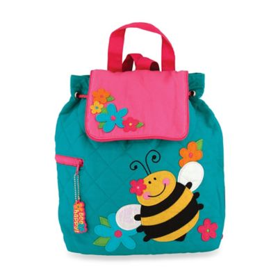 Stephen Joseph Bee Quilted Backpack in Turquoise