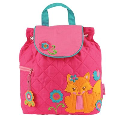 Stephen Joseph Fox Quilted Backpack in Pink