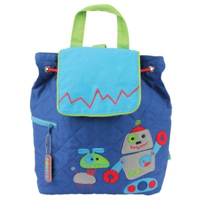 Stephen Joseph Robot Quilted Backpack in Blue