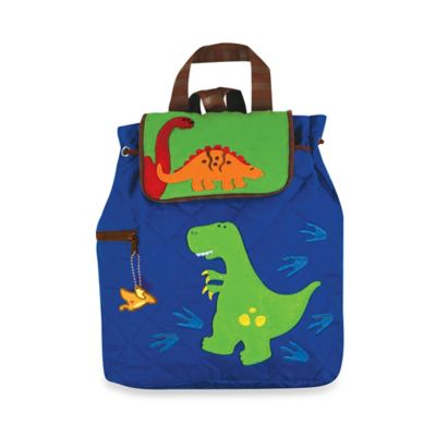 Stephen Joseph Dinosaur Quilted Backpack in Blue
