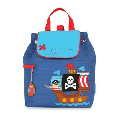 Stephen Joseph Pirate Quilted Backpack in Blue