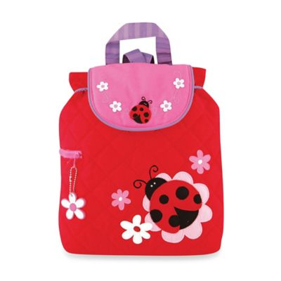 Stephen Joseph Ladybug Quilted Backpack in Red