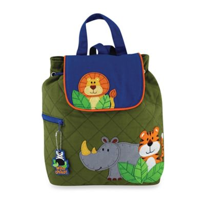 Stephen Joseph Zoo Quilted Backpack in Green