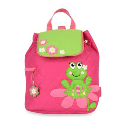Stephen Joseph Frog Quilted Backpack in Pink
