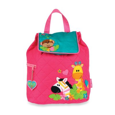 Stephen Joseph Zoo Quilted Backpack in Pink