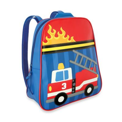 Stephen Joseph Fire Truck Go Go Backpack in Blue/Red