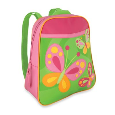 Stephen Joseph Butterfly Go Go Backpack in Pink/Green