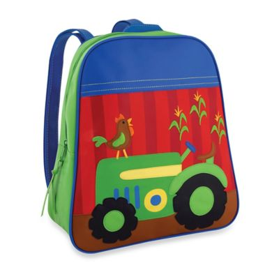 Stephen Joseph Tractor Go Go Backpack in Green/Red