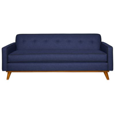 Kyle Schuneman for Apt2B Clinton Apartment Sofa in Navy with Coal Piping