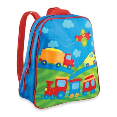 Stephen Joseph Transportation Go Go Backpack in Blue