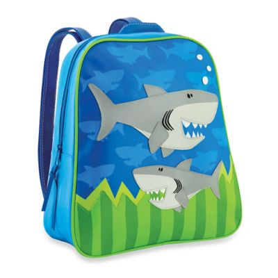 Stephen Joseph Shark Go Go Backpack in Blue/Green