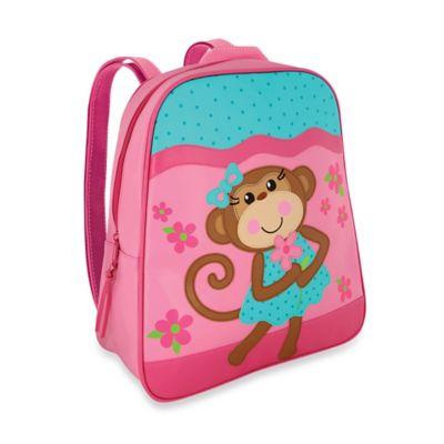 Stephen Joseph Monkey Go Go Backpack in Pink