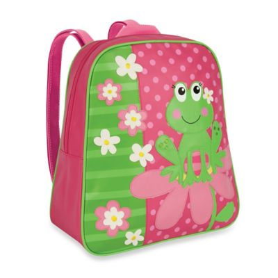 Stephen Joseph Frog Go Go Backpack in Pink/Green