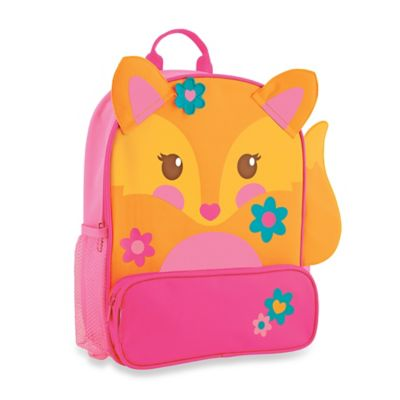 Stephen Joseph Fox Sidekick Backpack in Orange/Pink