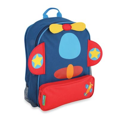 Stephen Joseph Airplane Sidekick Backpack in Blue/Red