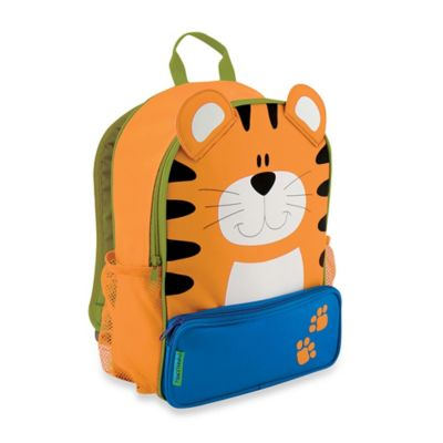 Stephen Joseph Tiger Sidekick Backpack in Orange/Blue