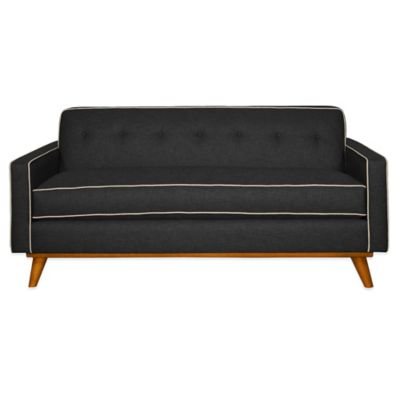 Kyle Schuneman for Apt2B Clinton Mini Apartment Sofa in Coal with Pink Lemonade Piping