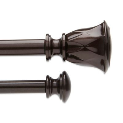 Umbra® Entwine 28-Inch – 48-Inch Adjustable Window Curtain Rod Set in Bronze